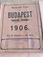 1906-os Budapest térkép