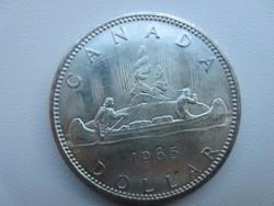 1965 Kanada kenu 23.5gr 0.800ag ezüst érme 36mm