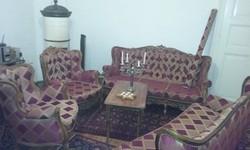 Felújított komplett barokk nagypolgári szalon nappali garnitúra fotel kanapé szófa ágy asztal