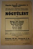 1945 Független kisgazda-földmunkás és polgári párt (nőgyűlés röplap )