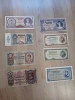 8 db Különböző Pengő bankjegy
