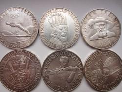 50 shilling érme sor kollekció 6db. 20gr - 0.900ag  Ár per db.