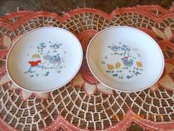 Kahla német porcelán, mese mintás, gyerek tányérok
