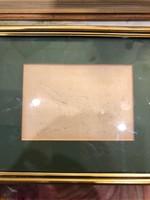 Szabó Vladimir, tus utvarészlet, 10 x 15 cm-es, ritkaság,karácsonyra