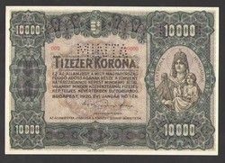 10000 korona 1920. 000000-ás MINTA!! Tökéletes UNC!!  RITKA!!