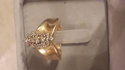 14 K valódi gyémánt gyürű  0,33  jelezve A gyűrűben is!