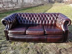 Chesterfield 3 személyes kanapé I.