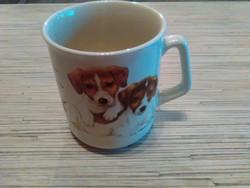 Kutyusos porcelán bögre