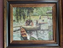 """""""Rónai"""" szignóval olaj-vászon festmény"""