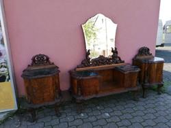 Antik barokk Éjjeliszekrény párban