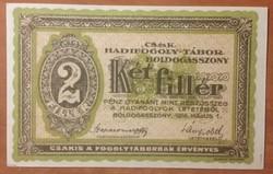 Boldogasszony 2 fillér 1916 aUNC