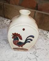 Kakasos butella, kulacs  falusi paraszti dekoráció