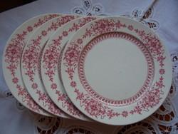 Antik angol fajansz (HÜTTL-CAULDON) süteményes tányérok, 4 db