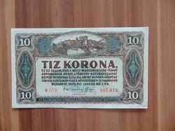 10 korona 1920 Sorszám között pont