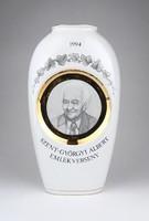 0Y828 Szent-Györgyi Albert porcelán váza 1994