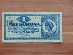 1 korona 1920 aa 002 Szép bankjegy  01