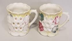 Gyönyörű szép antik bögrék csészék poharak