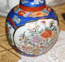Kinai fedeles amfora váza kézzel festett