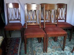6 db mahagóni szék