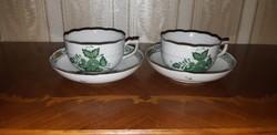 Herendi antik Apponyi mintás teáscsésze pár