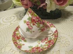 Angol Royal stafford csésze tányérjával