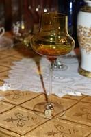 Kristály üveg kehely gyertyatartó