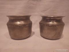 2 db alpakka váza dísztárgy