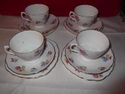 12 db-os jelzett angol porcelán teáskészlet!