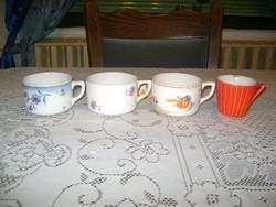 Régi gránit csésze - négy darab