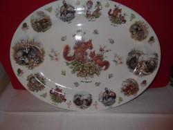 Nagyméretű jelzett angol porcelán pecsenyés tál!
