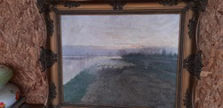 Festmény Bánságh Vince olaj vászon