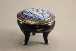 Német porcelán talpas gyűrűtartó G127