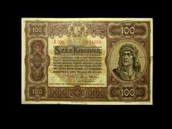 100 KORONA - 1920 - IGAZI REMEK ÁLLAPOTBAN!