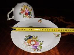 Herendi XXL BFR Gyümölcs mintás teás csésze aljjal