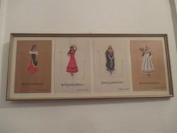 Carmen opera jelmezek,dallamok,kotta,képekben. 45,5 x 19 cm.
