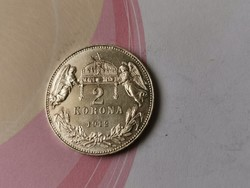 1912 ezüst 2 korona,Verdefényes darab,Így Ritka!!!