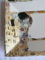 Gustav Klimt porcelán falidísz