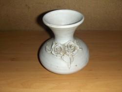 Rózsás kerámia váza 11 cm (12/d)