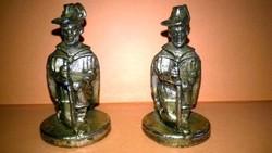 2 darab fém katona - miniatúra , polcdísz