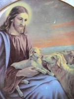 Porcelán dísztányér, dísztárgy (Jézus)