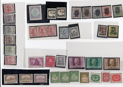 Vegyes bélyeg téttel összesen 37 db