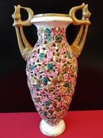 FISCHER vagy ZSOLNAY Antik Áttört Váza (31,5 cm)