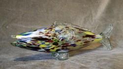Muránói fújt üveghal dísz