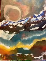 Polai krisztian Vihar előtt csend ! Akril, vászon  30 x 20