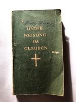 Régi német nyelvű vallási könyv - Luthers kleiner Katechismus1955