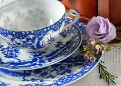 Régi Japán, Nippon Tokusei porcelán reggeliző szett, csésze kistányér