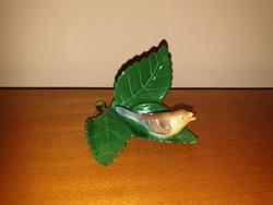 Herendi kis madár levélen/ asztali dekoráció