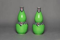 Jelzett angol art deco váza pár