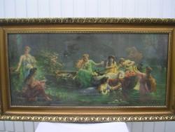 Csónakázó nimfák c. festmény