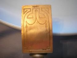 U8 Kávéházi Gyufatartó és hamutál egyben, antik ezüstözött cizellált díszes